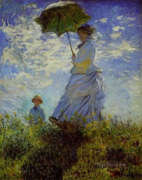Claude Monet Painting - The Walk Woman with a Parasol Claude Monet